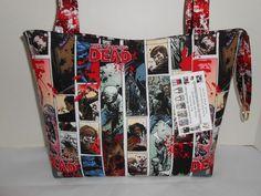 The Walking Dead Splatter Cotton Fabric Handmade Handbag Medium New #Handmade #ShoulderBag www.stores.ebay.com/momshandmadecrafts
