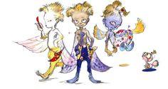 Final Fantasy VI - Dream Stooges Concept Art - Yoshitaka Amano