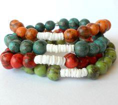 Acai Bead Bracelets in Four Colour Choices by theblackstarboutique, $18.00