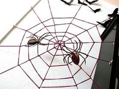 Giant Yarn Spider Web: An oversize spider web you can make in minutes.