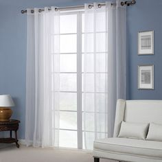 Europe Style White Sheer Curtain Bedroom Living Room Balcony Window Screen Home Decor