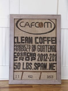 The Wicker House: Framing a Burlap Coffee Sack
