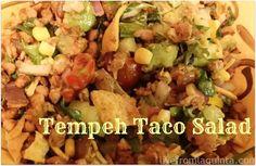Taco Salad 2 Vegan Recipe: Tempeh Taco Salad