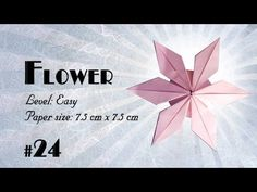 Origami Tutorial - How to fold Origami Modular Flower step-by-step - DIY