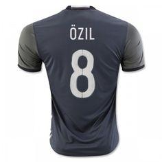 Tyskland 2016 Ozil 8 Udebanetrøje Kortærmet.  http://www.fodboldsports.com/tyskland-2016-ozil-8-udebanetroje-kortermet-1.  #fodboldtrøjer