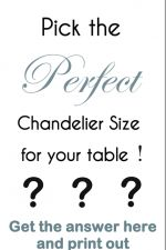 So you want to buy a gorgeous chandelier or a pretty pendant light to hang over a table in your dining room or kitchen….but what size of chandelier should you buy? As an interior design consultant there are many design rules of thumb that I work with…. ….and I'm going to share with you the …
