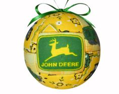 John Deere Handmade Christmas Ornament Kid Ornament Childs Ornament Green and Yellow Holiday Decor Christmas Tree Decoration by CraftCrazy4U