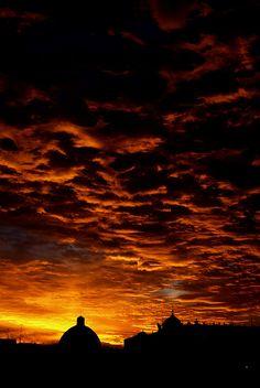 Dawn in Madrid, Spain