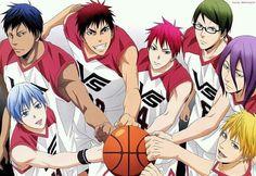 Kuroko no basket Aomine Daiki, Kagami Taiga, Kise Ryota, Akashi Seijuro, Murasakibara Atsushi, Midorima Shintaro