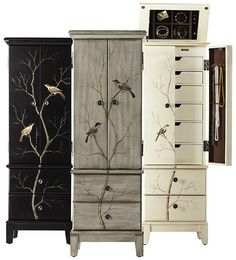 Chirp Jewelry Armoire  find the solution to concealing and organizing your jewelry $349