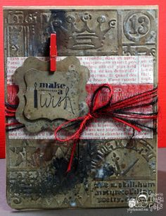 Psycho Moms Scrapbooks: Tarnished Silver - Tattered Angels  Masculine Card created by Tonya Gibbs.