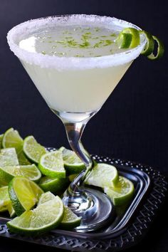 This lime drop martini needs to be on the menu tonight! Nope, no lemons this time – limes all the way!