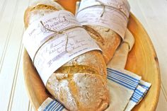 Garlic and Rosemary Baguettes recipe with free printable wrapper.