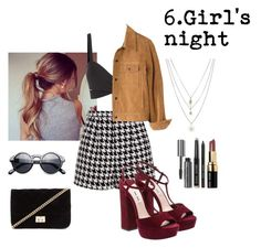 """Girl's night"" by aliceresident ❤ liked on Polyvore featuring Emma Cook, Forever 21, Orelia, Bobbi Brown Cosmetics, Retrò, Madewell, women's clothing, women, female and woman"