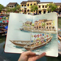 Hoian, Vietnam Vietnam, Polaroid Film, Sketches, Urban, Drawings, Doodles, Sketch, Tekenen, Sketching