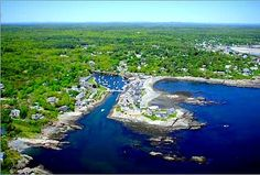 Areal view of Perkins Cove, Ogunquit Maine. Okay, so I've been there many times, but I love it!