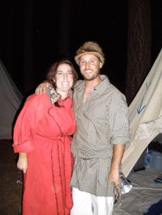 My son & his fiance after the evening chores (dishwashing) are done. Holcomb Valley rendezvous, Big Bear, CA