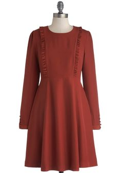 Worn once. Size medium. 35 glitters shipped. Greeting of the Minds Dress. Having your bright coworkers over for dinner? #red #modcloth