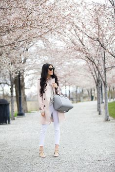 Coat: Coach (similar style here) | Top: Rag & Bone (40% off!!) | Jeans: Joe's | Flats: Valentino (blush pink version also here) | Glasses: Karen Walker | Bag: Givenchy (also here) | Lips: Hip n' Happy and Cream Cup by MAC Isla's Outfit:: | Coat: Bobo Choses | Jeans: Zara | Bow: Splendid Bow Shop ℅ | Ballet Flats: Allegro Baby ℅ … [&hellip