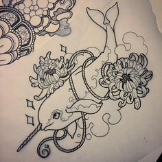 So excited to tattoo this #narwhal at the #custombikeshow