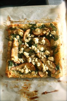 Spiced Pear & Goat Cheese Tarte with Mustard Cream.
