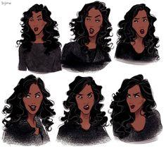 Bev Johnson on - Character Design Club 2019 Female Character Design, Character Drawing, Character Design Inspiration, Character Concept, Concept Art, Character Ideas, Black Characters, Female Characters, Black Girl Art
