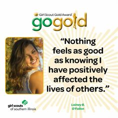 Lainey Brown from O'Fallon, IL earned the Girl Scout Gold Award while worked with two area nursing homes to help residents with Alzheimer's.