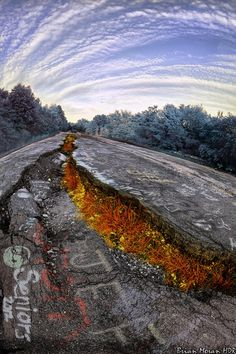 "centralia pa  | The ""old"" Route 61 near Centralia, Pennsylvania. The image was heavily ..."