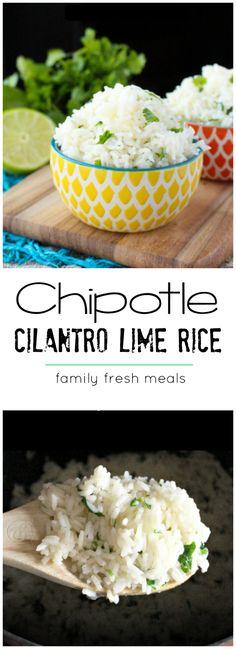 The yummiest Copycat Chipotle Cilantro Lime Rice Recipe!