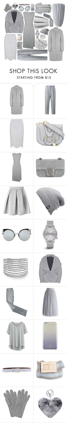 """""""Gris"""" by juju0000 ❤ liked on Polyvore featuring Acne Studios, Alexander McQueen, See by Chloé, Fenn Wright Manson, Miss Selfridge, The North Face, Fendi, Komono, Balmain and 7 For All Mankind"""