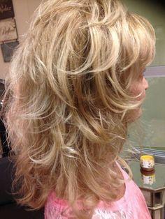 Medium Layered Hair, Short Hair With Layers, Long Hair Cuts, Curly Hair With Bangs, Haircut For Thick Hair, Medium Hair Styles, Curly Hair Styles, Long Gray Hair, Blonde Haircuts