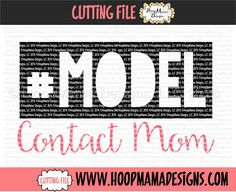 #Model - Contact Mom SVG PNG DFX EPS - HoopMama Designs