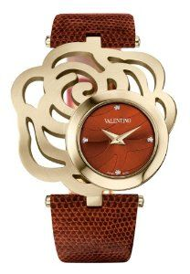 Valentino Women's Rosier Gold Plated Brown Rose Shaped Case Watch Stylish Watches, Luxury Watches, Valentino Watches, Fashion Accessories, Fashion Jewelry, Women's Fashion, Jewelry Accessories, Valentino Women, Places