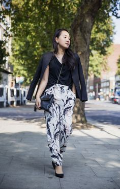 {Fall Lookbook: The Printed Joggers}