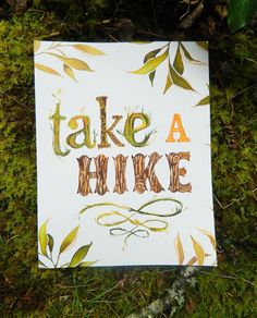 Take A Hike  Large Format Print by thewheatfield on Etsy, $22.00