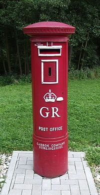 """Widely visible but rarely noticed, the words """"Carron Company Stirlingshire"""" appear near the base of many UK pillar boxes"""