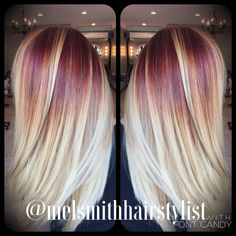Strawberry to blonde color melt | @melsmithhairstylist