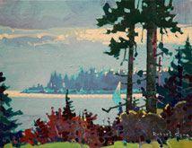 Robert Genn, artist, original landscape paintings at White Rock Gallery Gabriola Light