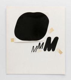 [Experiment mit dem Buchstaben M]-Schrift / Typografie: 1965, Wolfgang Weingart