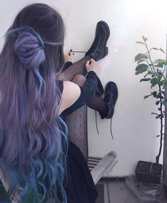 Account Suspended - Allilein - Account Suspended 👽 Grunge Style 👽 Grunge OUTFIT IDEAS 🌈 🤪 Stressed, depressed but wel. Hair Dye Colors, Cool Hair Color, Grunge Outfits, Hipster Outfits, Dye My Hair, Your Hair, Hipster Grunge, Grunge Style, 90s Grunge Hair
