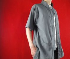 Wholesale Grey Cotton Kungfu Martial Art Tai Chi Clothing Shirt #122 in Just  USD $44.87 from DailyTrader