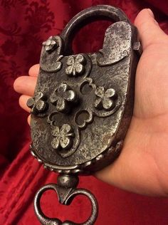Padlock with Key Gate Handles, Knobs And Handles, Under Lock And Key, Key Lock, Antique Keys, Vintage Keys, Key Crafts, Door Knobs And Knockers, Old Keys