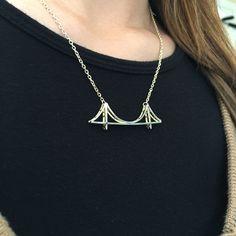Jewelure Golden Gate Bridge Necklace