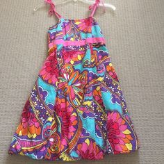 lilly Pulitzer dress worn a decent amount, great condition, lilly pulitzer, tie straps, stretchy back, it is a child's 14 but fits about 2-4 women's Lilly Pulitzer Dresses
