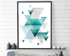 Geometric Poster Geometric Print by UrbanEpiphanyPrints on Etsy
