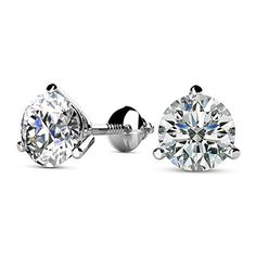 Girls Jewelry Simulated Blue Sapphire Studded 14K White Gold Plated Screwback Heart Cut Solitaire Stud Earrings For Women