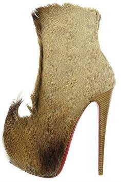 Puck Platform Fur Boot. Christian Louboutin