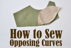 Three different ways to sew together convex and concave curves.