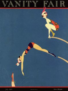 Vanity Fair 1921 lady Flappers on diving boards