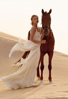 Bride with horse...